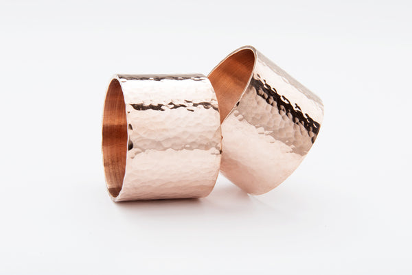Copper Planished Napkin Ring