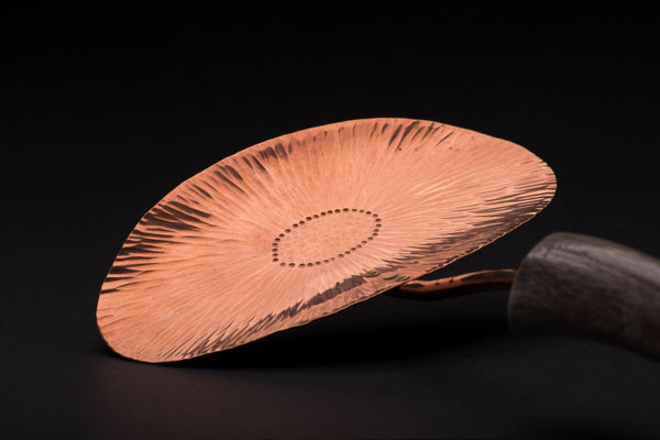 Copper Lotus Flower Asparagus Server
