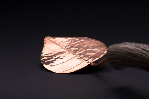 Copper Aspen Leaf Pie Server