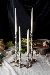 Silver Crunched Candlestick