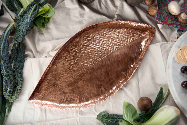 Copper Magnolia Leaf Tray