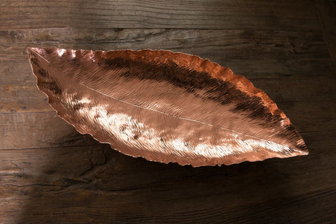Copper Banana Leaf Bowl
