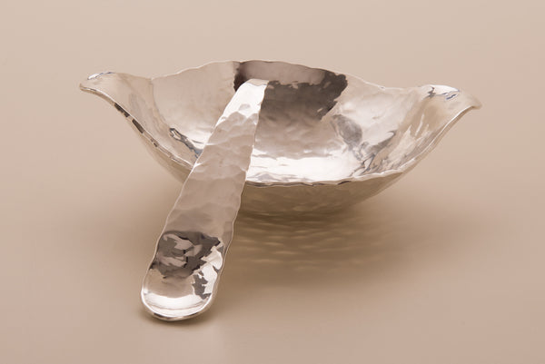 Silver Condiment Bowl & Spoon