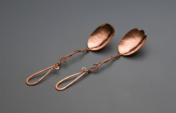 Copper Medium Spoon Salad Set