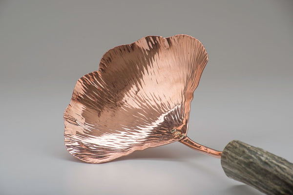 Copper Ginkgo Small Serving Spoon