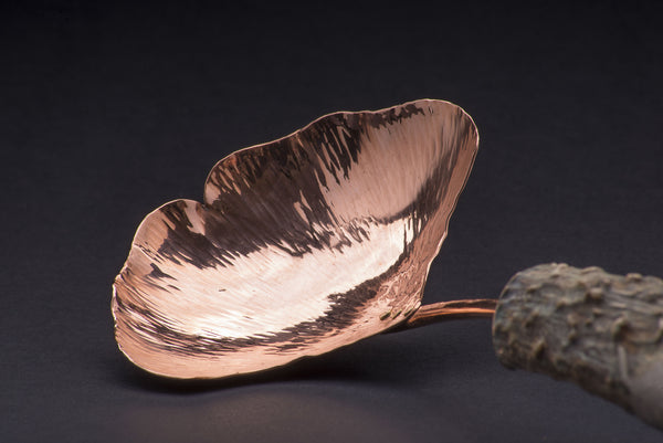 Copper Ginkgo Large Serving Spoon
