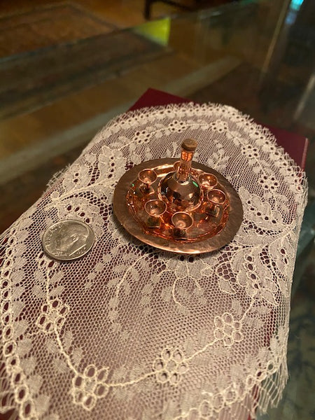 Copper Miniature Wine Set