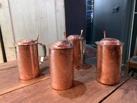 Copper Sunflower Steins