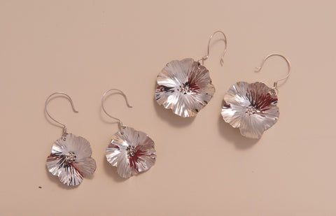 Sterling Silver Pear Blossom Earrings