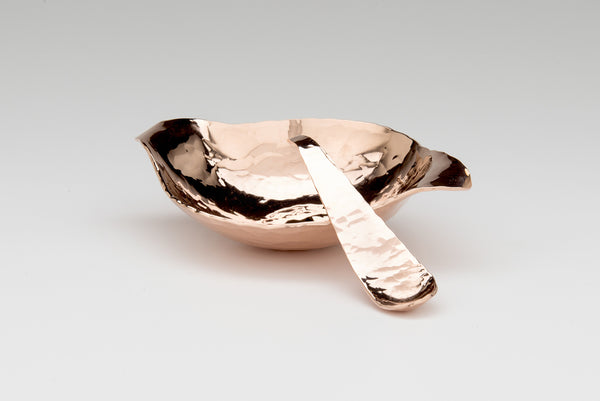 Copper Condiment Bowl & Spoon
