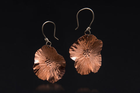 Copper Pear Blossom Earrings