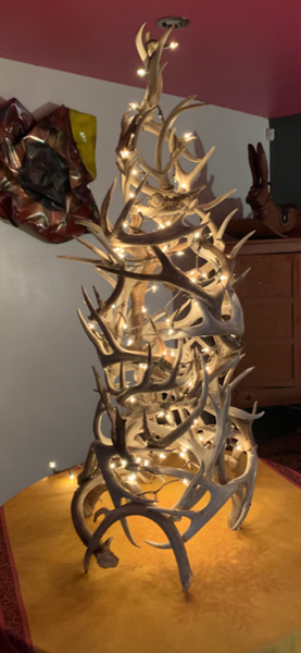 Antler Tree with Copper Rivets