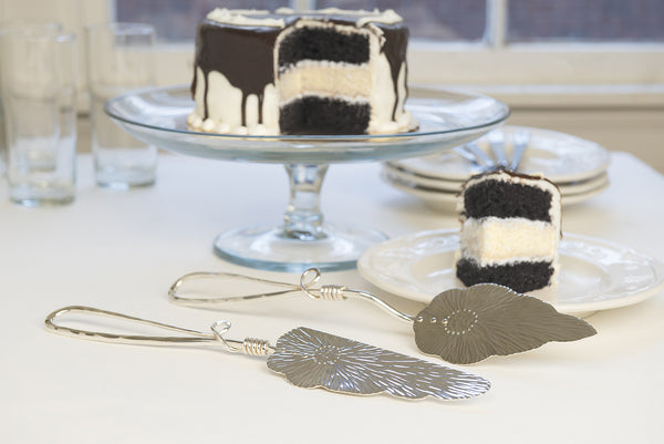 Silver Cake Knife & Server Set