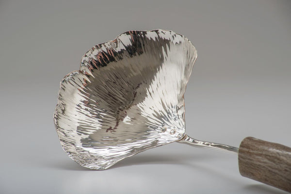 Silver Ginkgo Large Serving Spoon