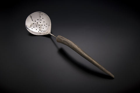 Silver Star Pattern Berry Spoon