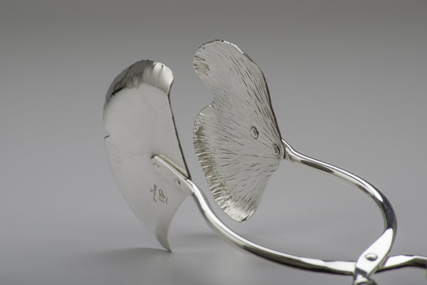 Silver Ginkgo Salad Tongs