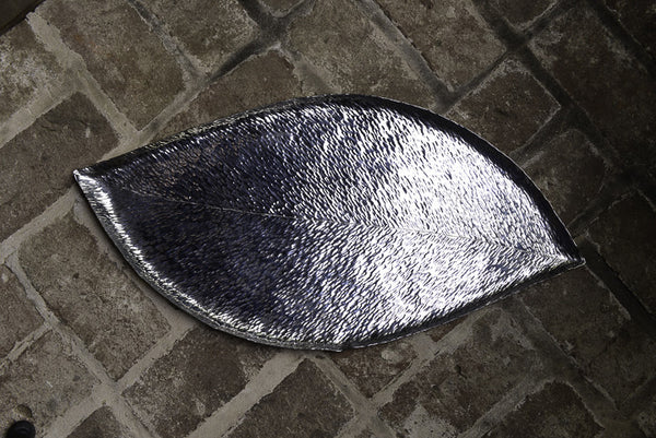 Silver Banana Leaf Tray