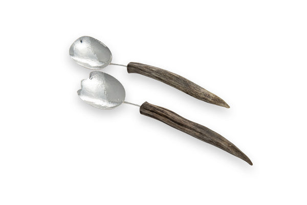Silver Medium Spoon Salad Set