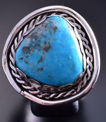 Pre-Owned Size 8 Kingman Turquoise Ring 9C13S