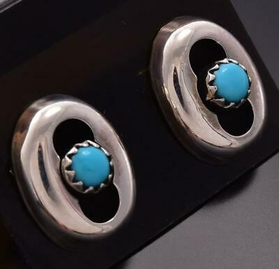 Silver & Turquoise Dome Post Earrings by LP ZE06Q