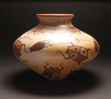 Hopi Frog and Dragonfly Pot by Stetson Setalla ZG20A