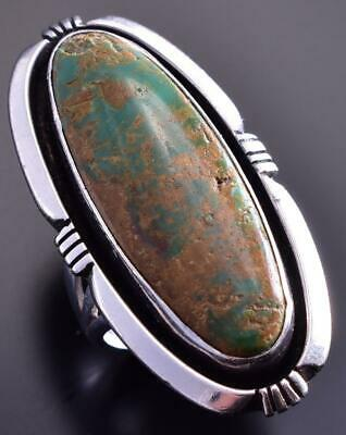 Size 6-3/4 King Manassa Turquoise Vintage Ring by Claw 9C13X