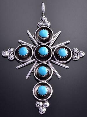 Zuni Turquoise Cross Pendant by Terry Dishta 9C23R