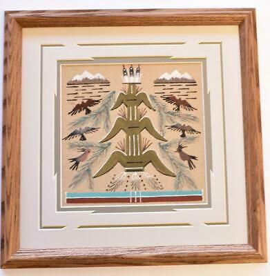 Navajo Sand Painting by Glen Nez 13-1/2 x 13-1/2 9C13C