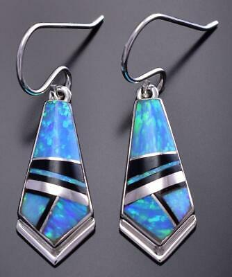 Opal & Jet Inlay Earrings by Cathy Webster 9C20D
