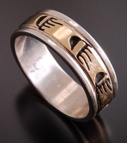 size 6 ~ 14K GOLD AND Silver ~ Bear Claw Band Ring by P. Skeets                PS51C