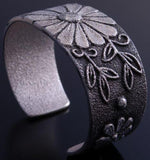 Silver Flower Design Bracelet by Tufa Cast Master: Rebecca Begay - PA10F