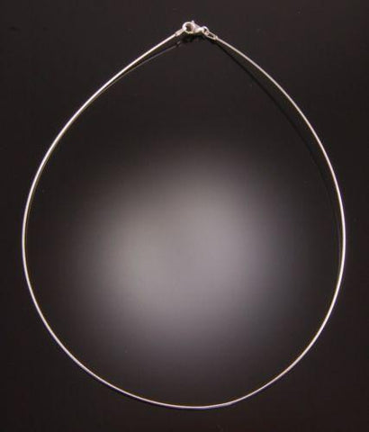16 inch Choker Omega Necklace - Round           PA42A
