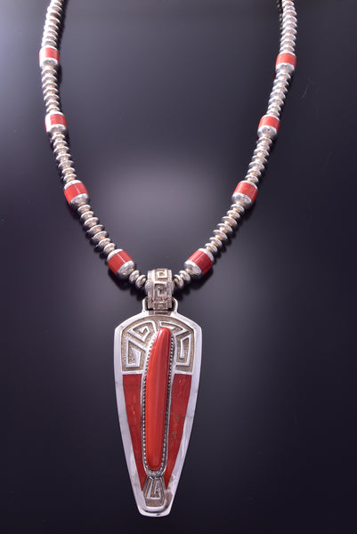 Award Winning - Vintage Coral Necklace by Tommy Jackson C9L11H