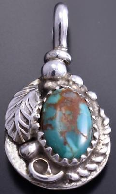 Reversible Silver & Coral & Turquoise Bear Claw Small Pendant Gary Henry 8E23E