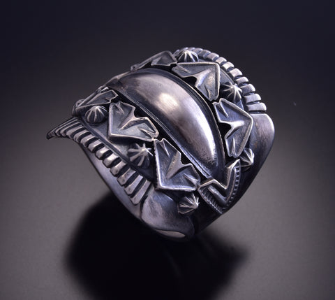 Size 13 Silver Mens Ring by Derrick Gordon ZM01C