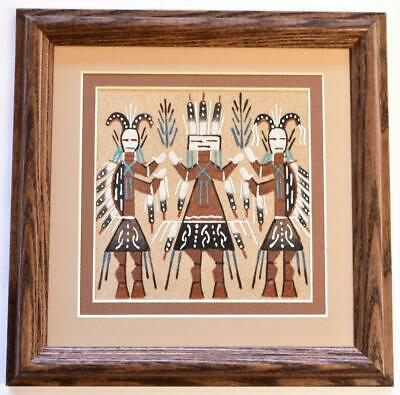 Navajo Sand Painting by Glen Nez- 9-3/4 x 9-3/4 - 9C13F