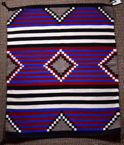 Navajo Handwoven Rug - 3rd Phase Chief Blanket Design ZH17E