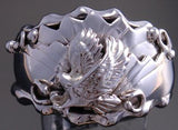 Size 11-3/4 All Silver Hunting Eagle Men's Ring by G. Francisco 8J10F