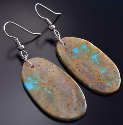 Kingman Turquoise Drop earring by Randy Garcia 9J17P