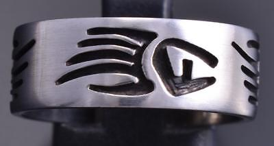 Size 9-1/4 All Silver Strength Bear Paw Open Design Ringband by Sonny Gene 8E08R