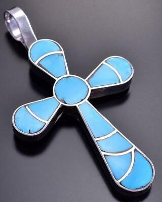 Turquoise Zuni Inlay Cross Pendant by Lynelle Johnson 9C23C