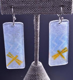 Painted Glass Dragonflies in Dawn Earrings by Jemez Pueblo Adrian Wall 8G30C