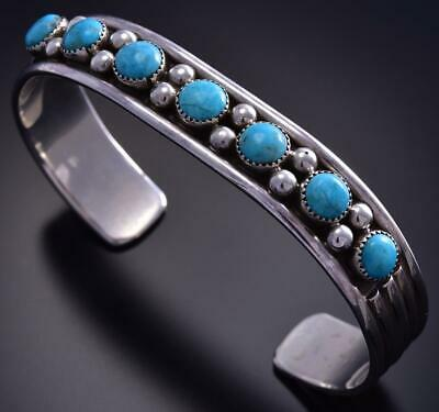 7 Stone Sleeping Beauty Turquoise Bracelet by Paul Largo 9K03R