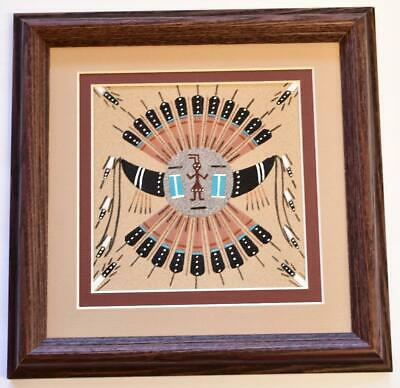 Navajo Sand Painting by LeAnna Hawley - 9-3/4 x 9-3/4 - 9C13G