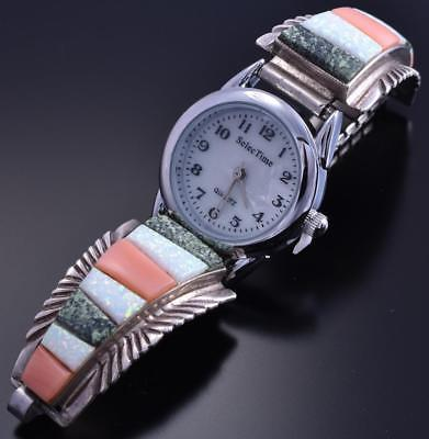 Vintage Silver Opal Turquoise Women's Watch by CW 8A08E