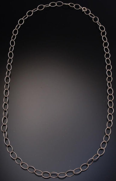 "18"" All Silver Loops Necklace- TO12M"