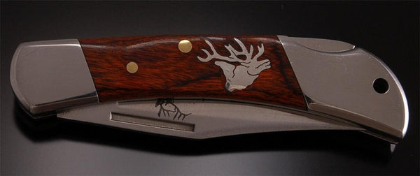 Beautiful Silver Elk and Wood  Knife by Tom Gwynn KN1D