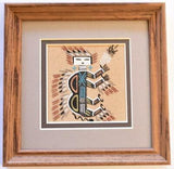 Navajo Sand Painting by Johnny Benally 7-1/4 x 7-1/4 - 9C13K