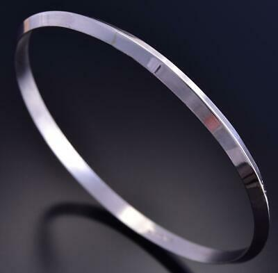 Simple Triangle Wire Plain Bangle Bracelet by Elaine Tahe 9K09U