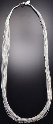 15 strand x 18 inch Liquid Silver Necklace 9C24A